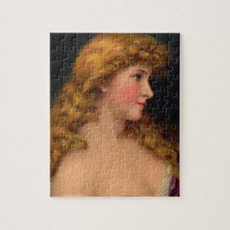 Puzzle Belle femme du 19ème siècle avec de longs cheveux