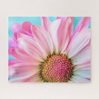 Puzzle Belle fleur rose sur le PC des bleus layette 16x20