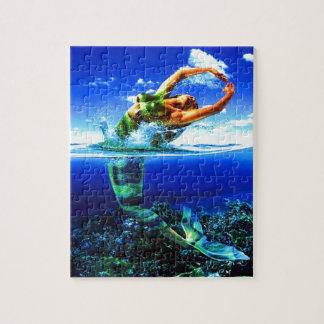 Puzzle Belles peintures de sirène
