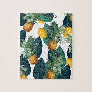Puzzle blanc d'ananas et de citron