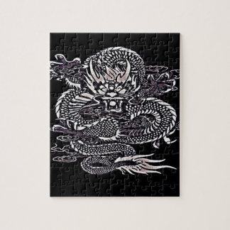 Puzzle Blanc épique de dragon