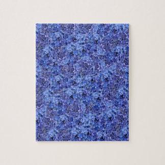 Puzzle bleu d'hortensia