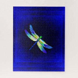 Puzzle Bleu électrique de libellule - personnalisez avec
