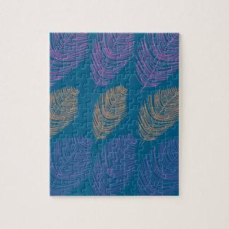 Puzzle Bleu exotique de paumes de conception