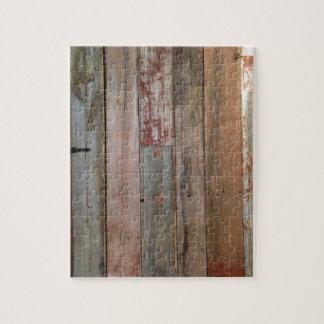 Puzzle bois primitif de grange de pays occidental de