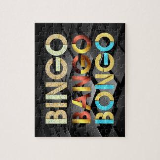 Puzzle Bongo de Bango de bingo-test de PIÈCE EN T