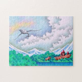 Puzzle Bord de lac tranquille