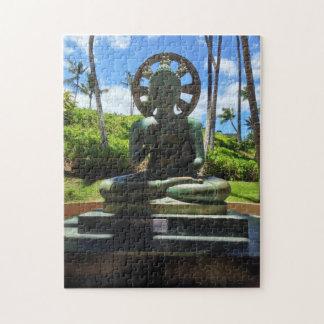 Puzzle Bouddha assis par bronze, Waikoloa, Hawaï