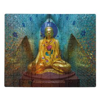 Puzzle Bouddha dans l'alcôve fleurie