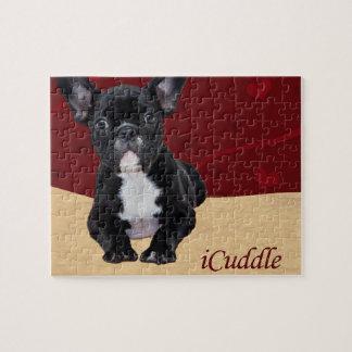 Puzzle bouledogue français d'iCuddle