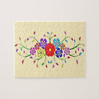Puzzle bouquet coloré de fleur