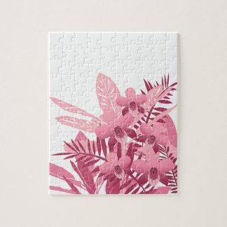Puzzle Bouquet des plantes tropicales roses