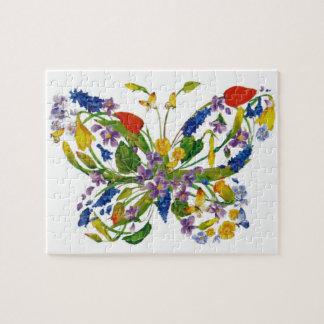 Puzzle Bouquet floral de papillon de fleur sauvage