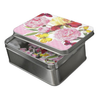 Puzzle Bouquet rose et jaune floral d'iris de papillon