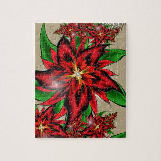 Puzzle Bouquet rouge