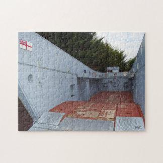 Puzzle britannique de la Normandie France de barge