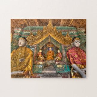Puzzle Buddhas dans un temple