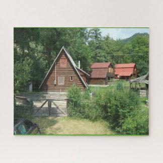 Puzzle Cabines en bois dans les montagnes