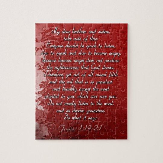 Puzzle Cadeau d'écriture sainte de 1h19 de James