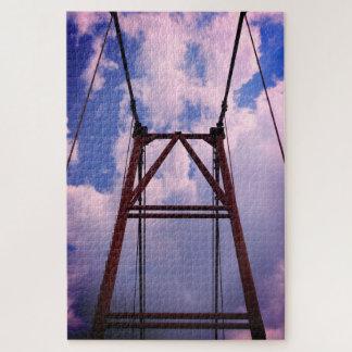 Puzzle Cadre du pont et du ciel bleu