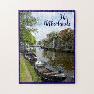 Puzzle Canal et bateaux néerlandais