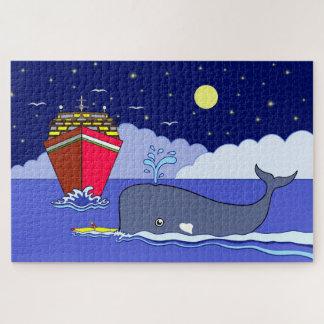 Puzzle Capitaine Kayak Saved par la baleine