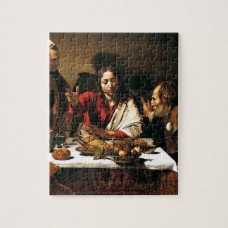 Puzzle Caravaggio - dîner chez Emmaus - peinture