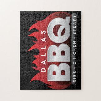 Puzzle carré de photo d'autocollants de BBQ de