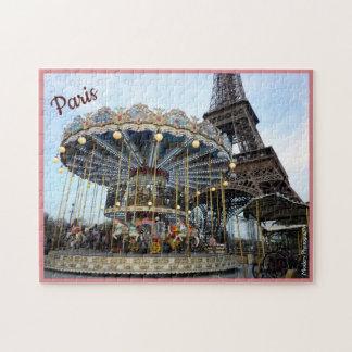 Puzzle Carrousel de Paris (et Tour Eiffel) avec le texte
