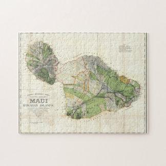 Puzzle Carte 1885 de De Witt Alexandre de Maui, Hawaï