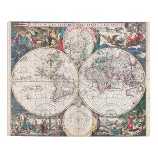 Puzzle Carte antique du monde de Double-Hémisphère