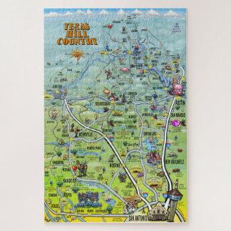 Puzzle Carte d'amusement de pays de colline du Texas