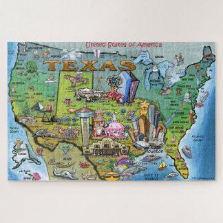 Puzzle Carte d'amusement du Texas Etats-Unis