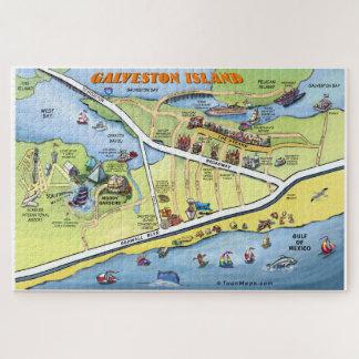 Puzzle Carte de bande dessinée de Galveston le Texas