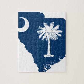 Puzzle Carte de drapeau de la Caroline du Sud