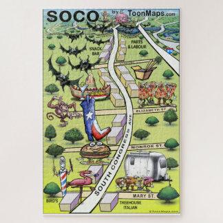 Puzzle Carte du centre d'amusement d'Austin le Texas du