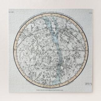 Puzzle Carte du plat XXVIII d'hémisphère sud