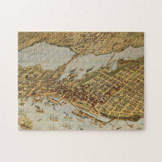 Puzzle Carte imagée vintage de Vancouver AVANT JÉSUS