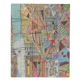Puzzle Carte moderne de New York I