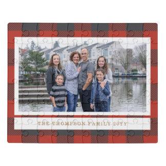 Puzzle Carte photo rouge de vacances de flanelle