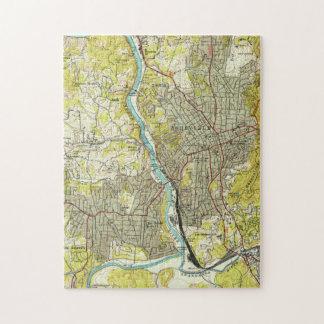 Puzzle Carte vintage d'Asheville la Caroline du Nord