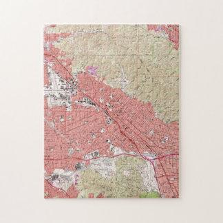 Puzzle Carte vintage de Burbank la Californie (1966)