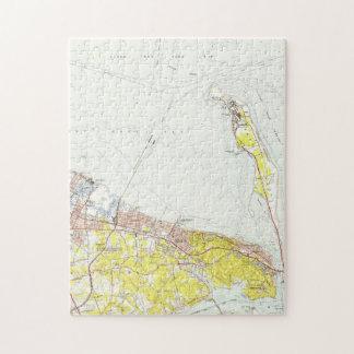 Puzzle Carte vintage de crochet NJ (1954) de Sandy