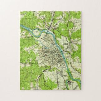 Puzzle Carte vintage de Fredericksburg la Virginie (1944)