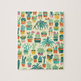 Puzzle Casse-tête colorée de motif de fleur de cactus
