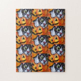 Puzzle Casse-tête de chat noir et de Jack O'Lantern