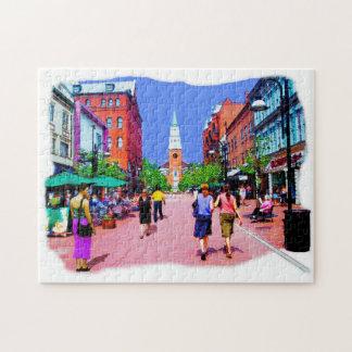 Puzzle Casse-tête de peinture de rue du Vermont
