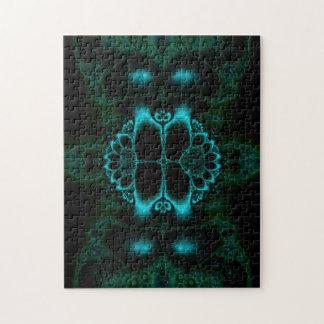 Puzzle Casse-tête foncée de fractale de Lotus de forêt
