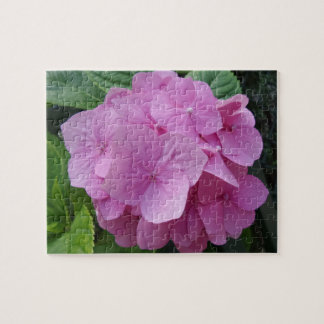 Puzzle Casse-tête rose de fleur d'hortensia