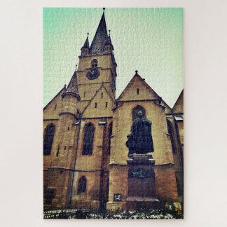 Puzzle Cathédrale de statue et de Luthérien de Georg